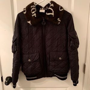 Christian Dior Black Quilted Cannage Jacket
